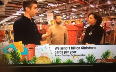 BBC Breakfast discuss Christmas Card sending
