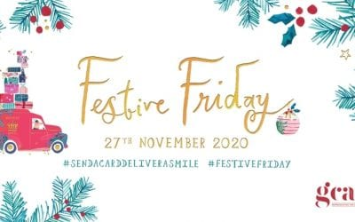 Retailer banner – to encourage customers to join us and send their Christmas Cards on Festive Friday 2020!