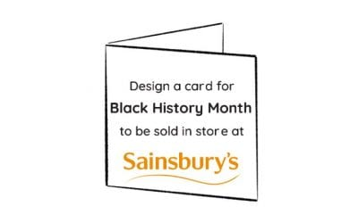 Design a card for Black History Month in Sainsbury's